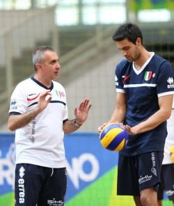 Roberto Serniotti e Sebastian Solé in allenamento