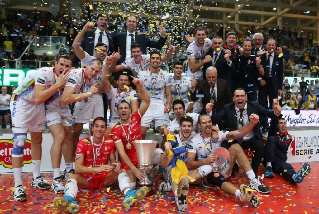 La Diatec Trentino festeggia la Del Monte Supercoppa 2013