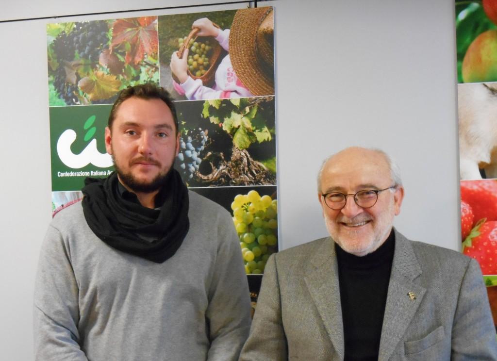 Andrea Recchia Presidente AGIA Trentino e Flavio Pezzi Presidente CIA Trentino_2
