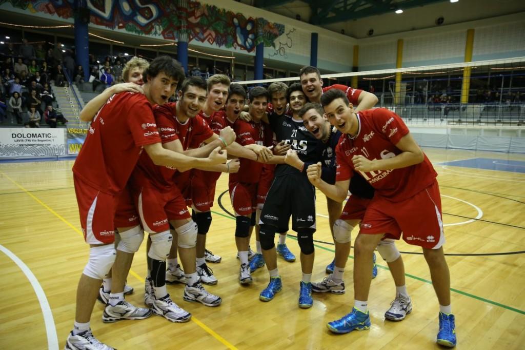 L'Itas Assicurazioni Trentino Under 19 festeggia la vittoria della Coppa Trentino Alto Adige 2014