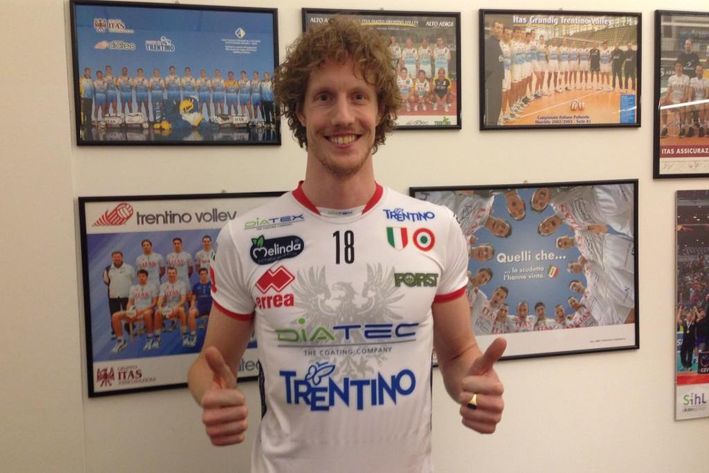 Kay Van Dijk con la maglia della Diatec Trentino