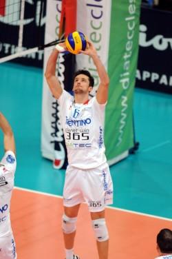 Lukasz Zygadlo in azione al PalaTrento