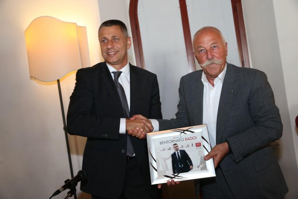 Radostin Stoytchev e il Presidente Diego Mosna