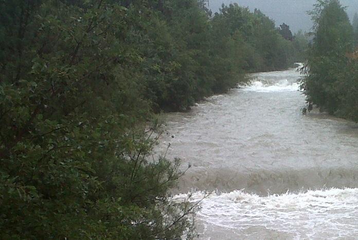 fiume piena Edolo