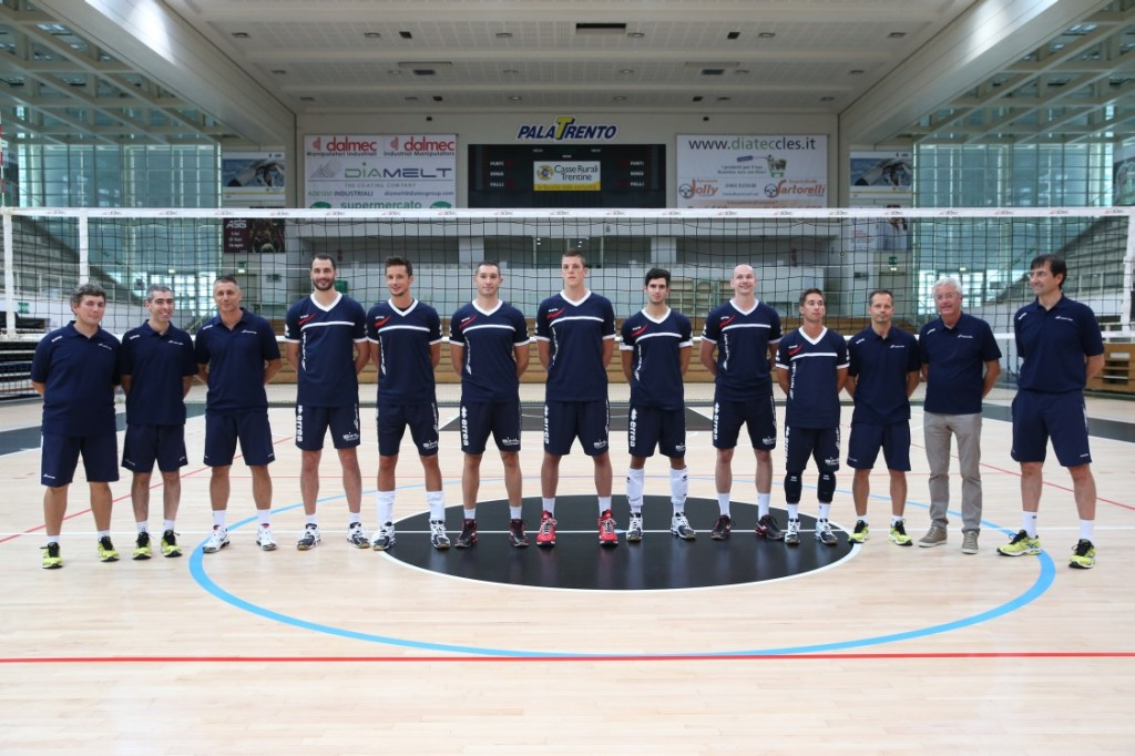 trento trentino volley Prima foto di squadra stagionale