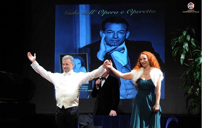 """Casinò di Campione d'Italia concerto """"Lalirica a Campione d'Italia"""" con il tenore Ottavio Palmieri e il mezzo soprano Yuliya Grote"""