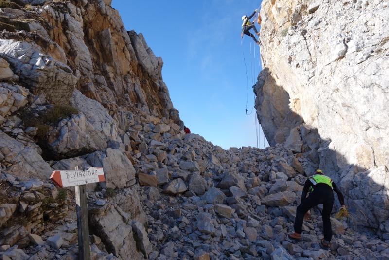 Soccorso alpino sentieri esercitazione