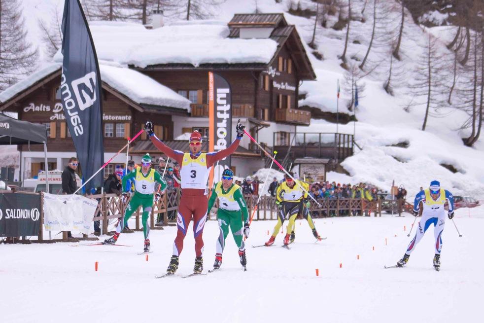 Arrivo sci nordico comitato fisi alpi centrali fondo