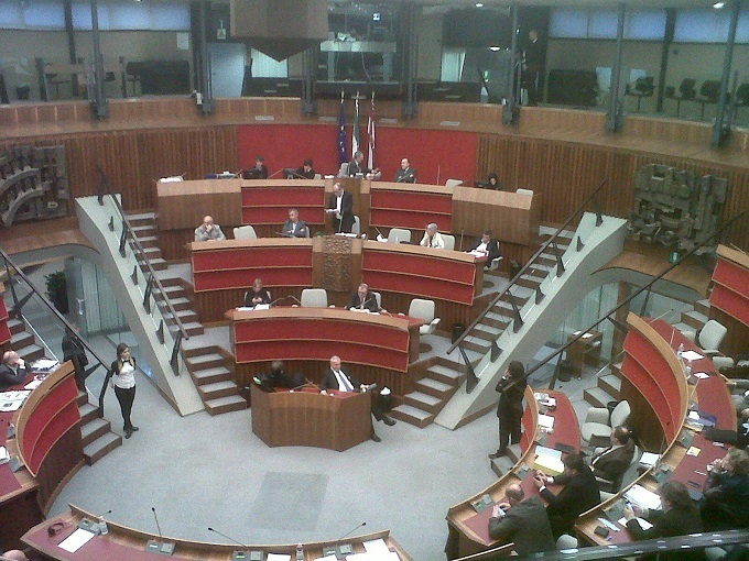 Ugo Rossi al Consiglio2014