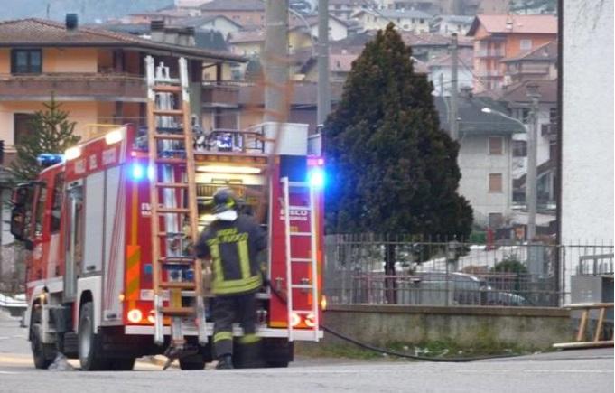 Vigili del fuoco a Malonno