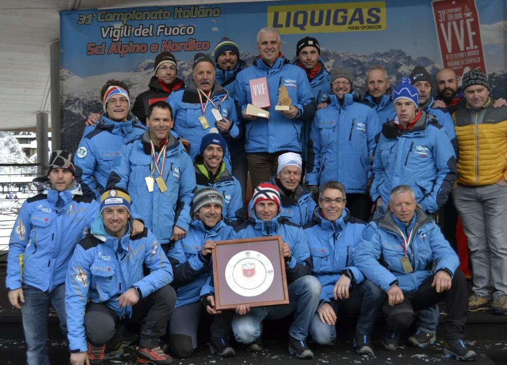 La squadra vincitrice - Unione distrettuale valle di      Fiemme