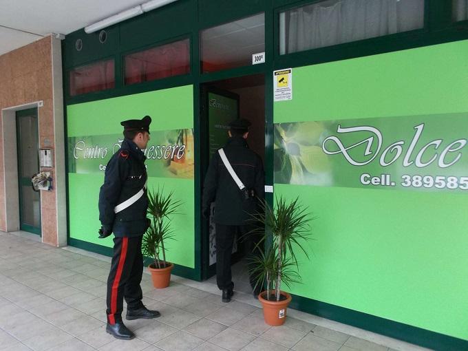 centro benessere Gardone carabinieri