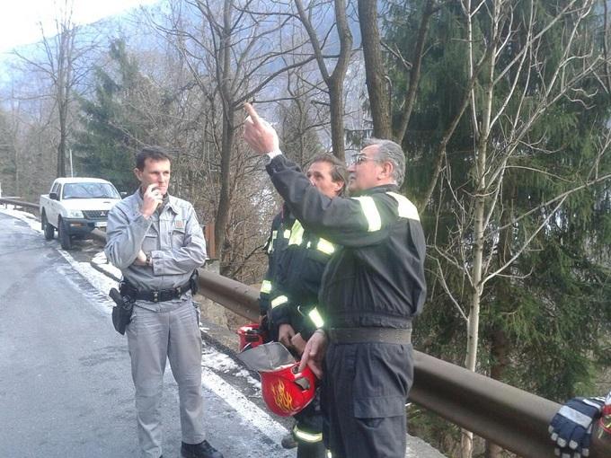 incendio bosco a Cevo