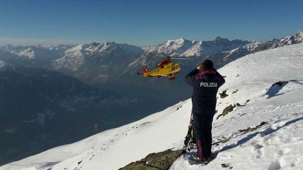 polizia soccorso valanga