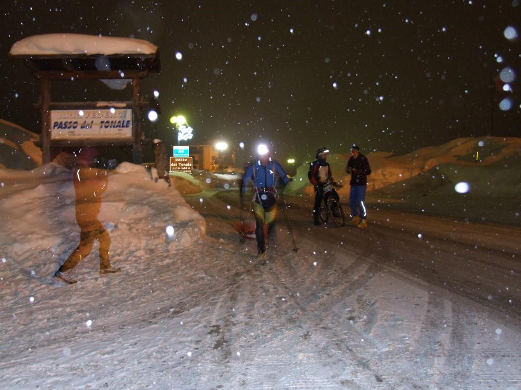 trail notturno bici sci