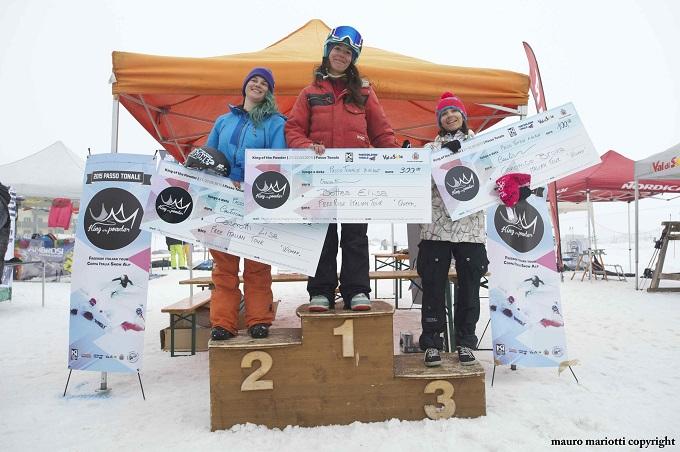 Snow board Tonale - podio femminile