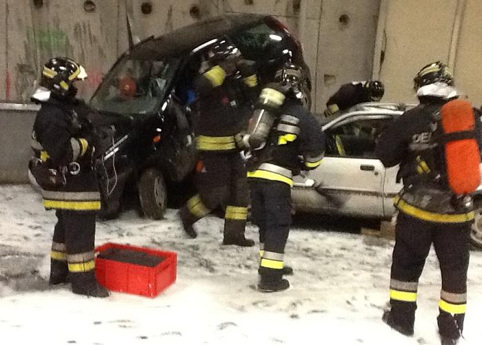esercitazione Vigili del fuoco - incidente galleria