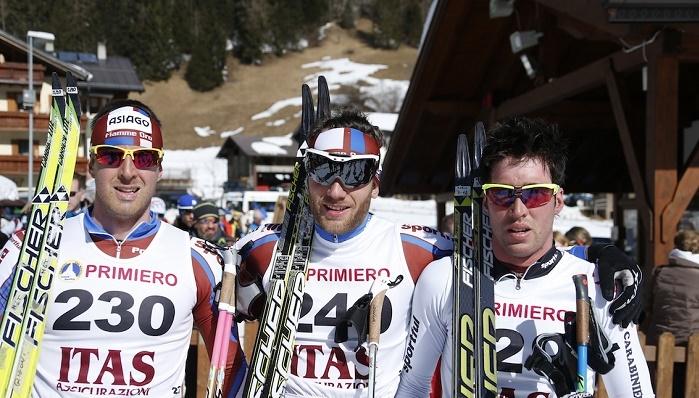 podio maschile fondoi Coppa italia 1