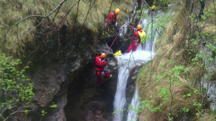 Soccorso Alpino  forra - canyoning