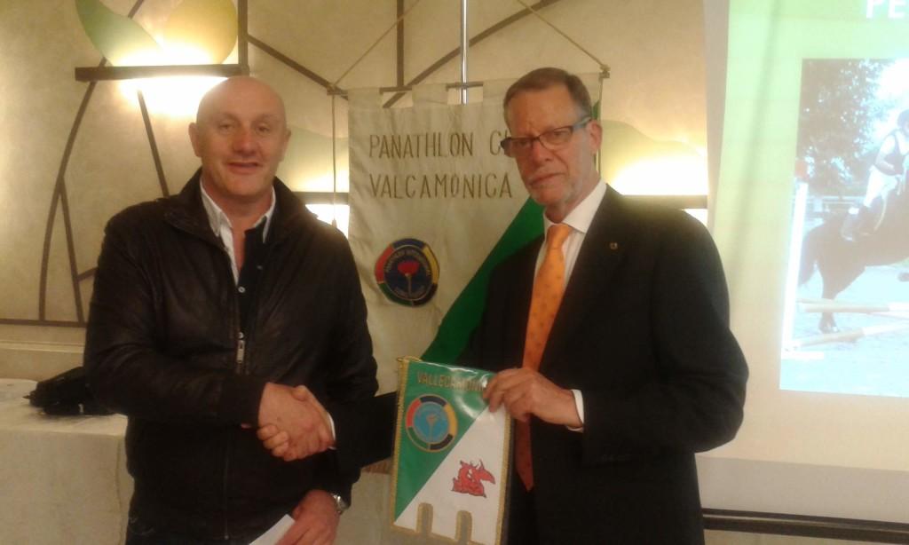 Fabio Spatti, nuovo socio con il presidente Gheza