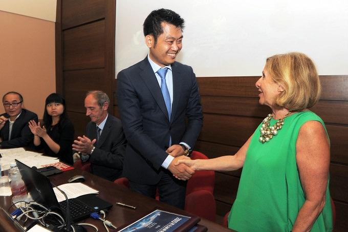 Milano Unione Confcommercio conferenza stampa del Comune Campione d'Italia per la presentazione della nona edizione Convegno Mondiale degli imprenditori Cinesi nel Mondo