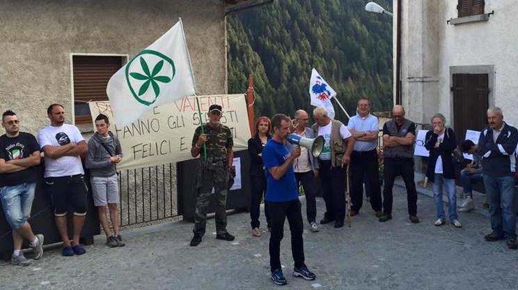 Vione protesta Lega Nord
