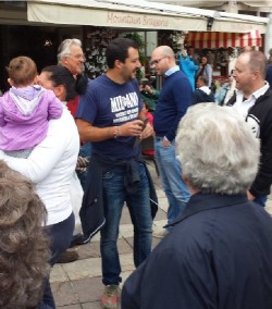 Salvini in piazza a Ponte di legno10