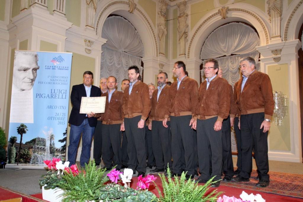 Il Coro Cima Tosa delle Giudicarie vincitore del Concorso PIgarelli