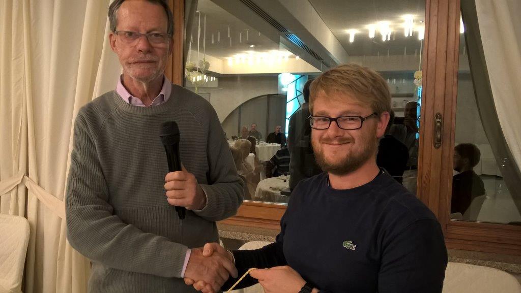 Il presidente Gheza con il presidente Bodè del canoa Club di Brescia