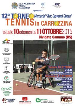 tennis locandina carrozzina