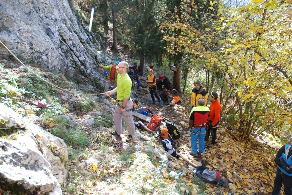 esercitazioni parete soccorso alpino