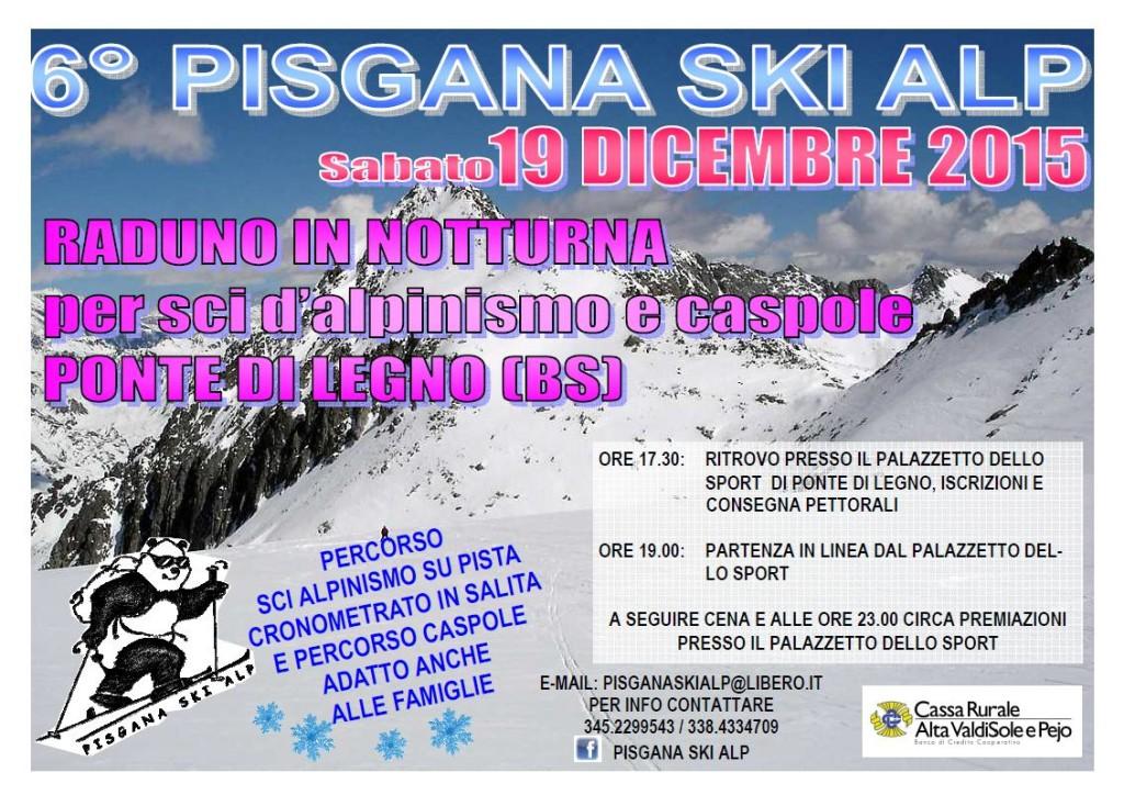 6° Raduno Pisgana Ski Alp - fronte