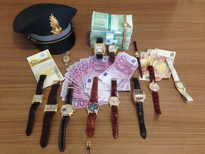 Finanza orologi rubati Bolzano