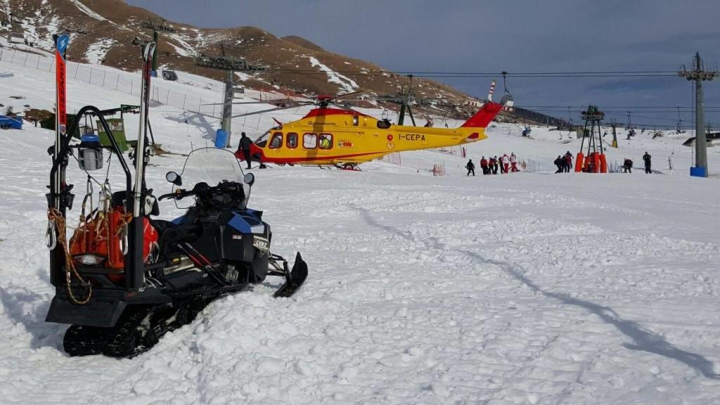 incidente soccorso piste elicottero