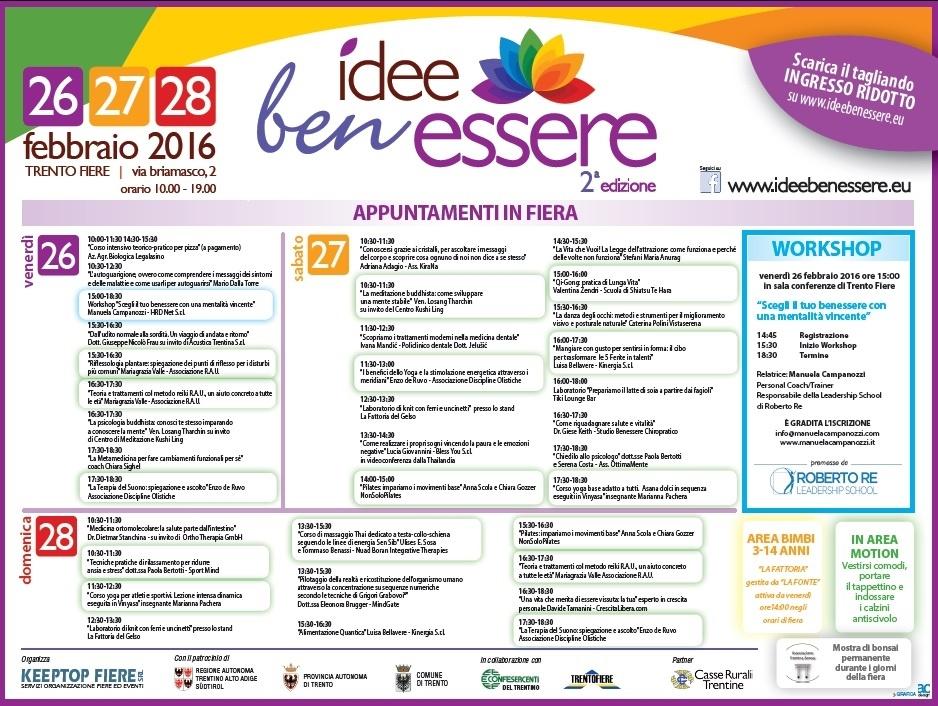 programma Idee Ben Essere 2016- 1