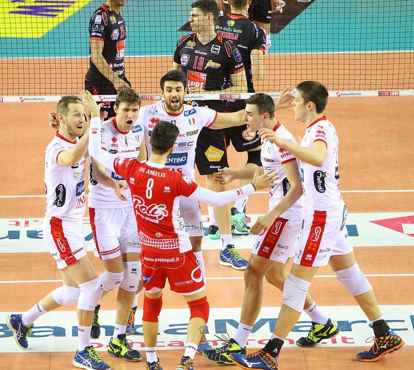 Diatec Trentino a Civitanova volley trento
