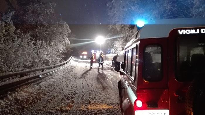 Edolo - vigili fuoco - neve -  Aprica