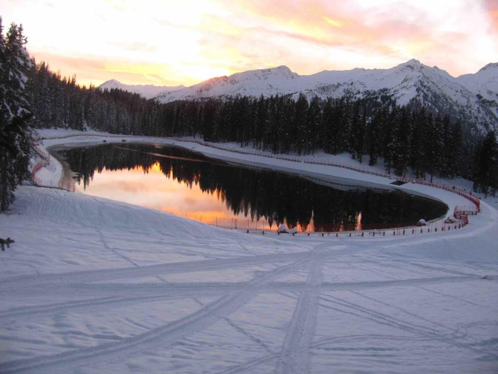 campiglio laghetto montagnoli neve
