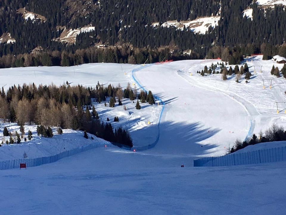 pista discesa supergigante sci alpino gare
