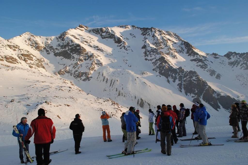 trentino ski sunrise pejo sci piste alba