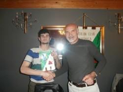 Il presidente Nezosi con il giocatore Daniele Soldi