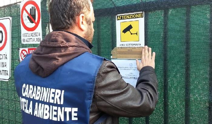 NOE - carabinieri area sotto sequestro 1