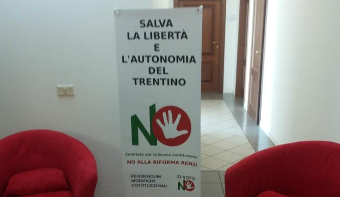 Salva l'autonomia - No Renzi