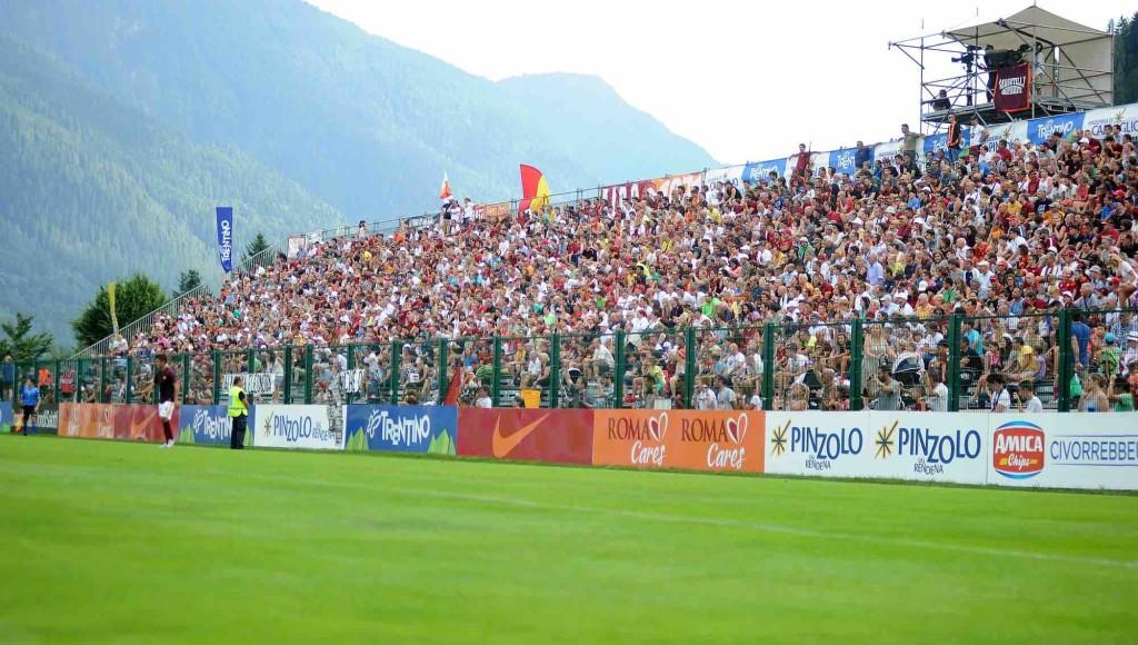 pinzolo ritiro roma val rendena calcio