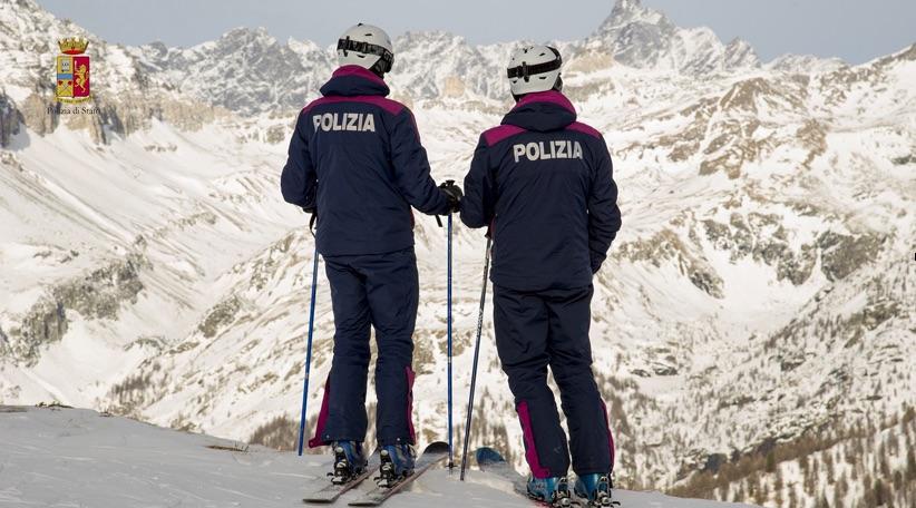 soccorso piste sci polizia di stato