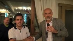 Davide Bendotti e il presidente Giocondo Nezosi