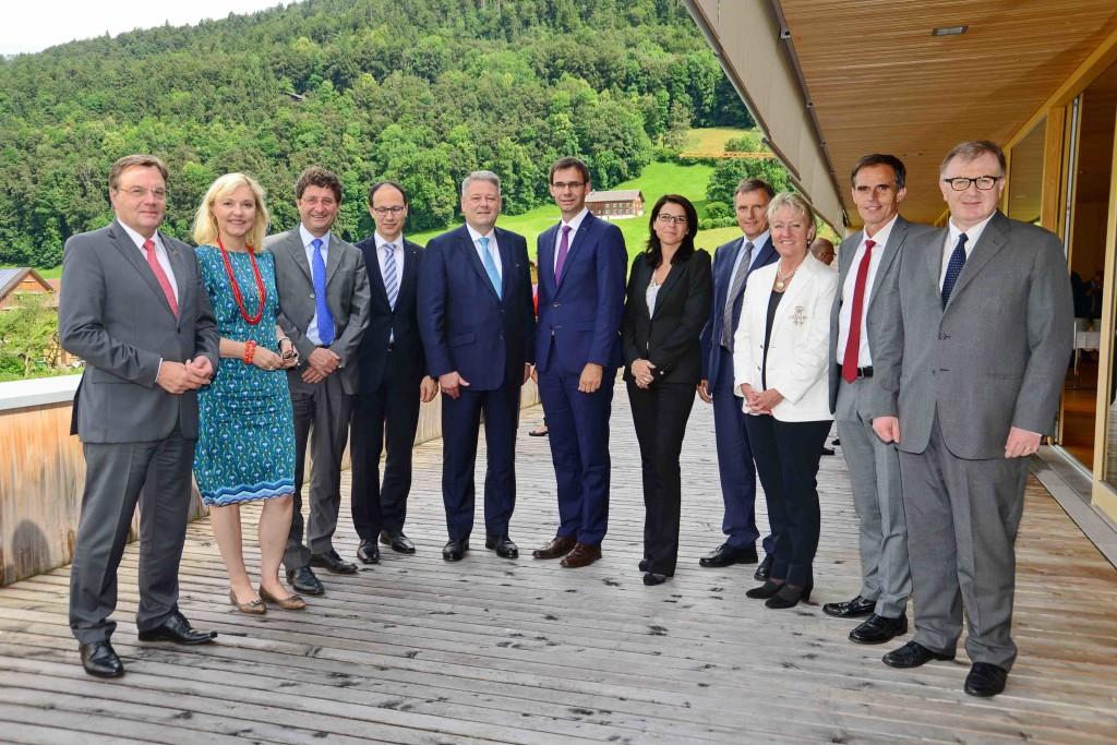 I Capi di Governo di Arge Alp riuniti nel Vorarlberg, per l'Alto Adige presente il vicepresidente Theiner - Foto- Landespressestelle Vorarlberg