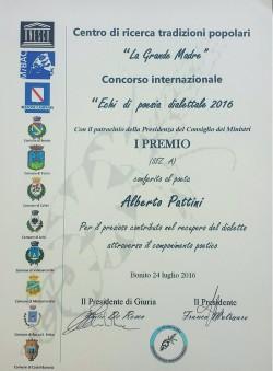 Diploma concorso internazionale Pattini