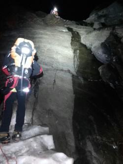 soccorso alpino ghiacciaio