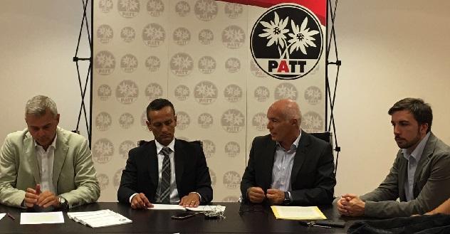 Conferenza stampa gruppo PATT 40